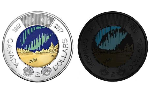 moeda canadense brilha no escuro
